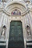 Деталь входной двери собора Флоренса Стоковые Фотографии RF