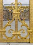 Деталь въездных ворота, дворец Версаль Стоковые Фото