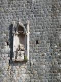 Деталь в стене города Дубровника Стоковые Изображения RF