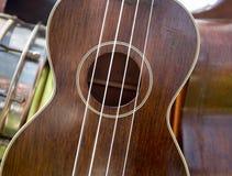 Деталь гавайской гитары Стоковое Фото