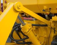Деталь гидравлического поршеня бульдозера Стоковая Фотография RF