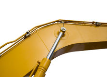 Деталь гидравлического поршеня бульдозера Стоковое Изображение