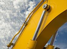 Деталь гидравлического поршеня бульдозера Стоковые Фото