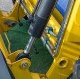 Деталь гидравлического поршеня бульдозера Стоковые Изображения RF