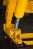 Деталь гидравлического поршеня бульдозера Стоковые Изображения
