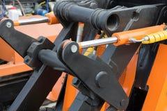 Деталь гидравлического экскаватора поршеня бульдозера Стоковое Изображение RF