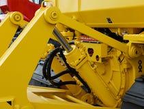 Деталь гидравлического экскаватора поршеня бульдозера Стоковое фото RF