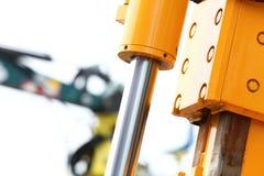 Деталь гидравлической предпосылки белизны бульдозера Стоковое Изображение
