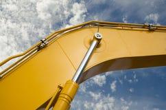 Деталь гидравлической руки экскаватора поршеня бульдозера Стоковые Фотографии RF