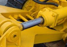 Деталь гидравлической руки экскаватора поршеня бульдозера Стоковое фото RF