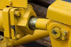 Деталь гидравлической руки экскаватора поршеня бульдозера Стоковые Фото
