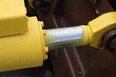Деталь гидравлической руки экскаватора поршеня бульдозера Стоковое Изображение RF