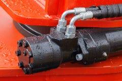 Деталь гидравлической руки экскаватора поршеня бульдозера Стоковое Фото