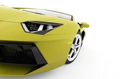 Деталь гоночной машины представленная на белой предпосылке Стоковое Изображение