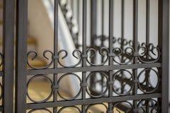 Деталь декоративной загородки металла Стоковая Фотография RF