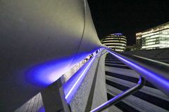 Деталь лестниц приближает к здание муниципалитету стоковые фото