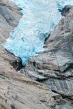 Деталь ледника Briksdalsbreen в Норвегии Стоковое Изображение
