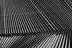 Деталь жалюзи металла архитектурноакустическая стоковое изображение rf