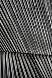 Деталь жалюзи металла архитектурноакустическая стоковая фотография