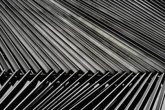Деталь жалюзи металла архитектурноакустическая стоковая фотография rf