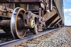 Деталь железной дороги во время горячего sping дня в Farnam Стоковые Фото