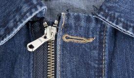 Деталь джинсов застежка-молнии Стоковые Фотографии RF