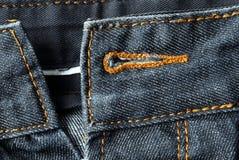 Деталь джинсыов Стоковые Изображения