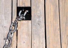 Деталь звена цепи Стоковое Фото