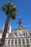 Деталь здание муниципалитета Парижа. Стоковое Фото