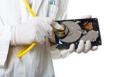 Деталь здравоохранения жёсткого диска Стоковое фото RF