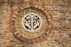 Деталь известного аббатства Pomposa Стоковые Изображения RF