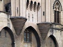 Деталь известного des Papes Palais, Авиньона, Франции Стоковые Фотографии RF