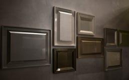 Деталь интерьера, дизайна стены картинной рамки Стоковое Изображение