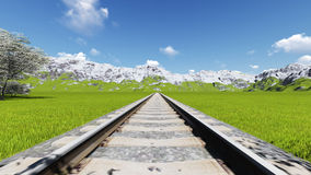 Деталь итальянской Европы увиденной железной дорогой сверху иллюстрация вектора