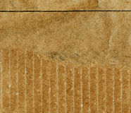 Деталь картона утиль картона старый Старая сорванная бумага картона Стоковое фото RF