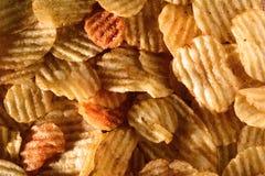 Деталь картофельной стружки Стоковое фото RF