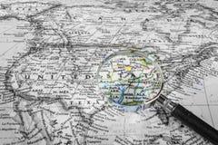 Деталь карты Соединенных Штатов Стоковая Фотография