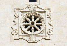Деталь католической церкви на острове Hvar Стоковое Изображение