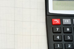 Деталь калькулятора Стоковое Изображение
