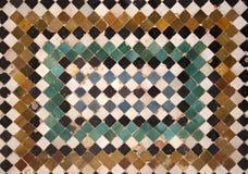 Деталь керамической стены стоковые фото