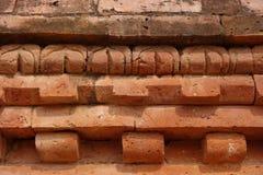 Деталь кирпича Nalanda Mahavihara стоковые фотографии rf