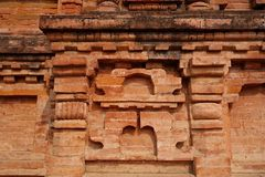 Деталь 2 кирпичной стены Nalanda Mahavihara стоковые изображения