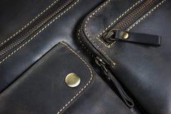 Деталь кожаной сумки Стоковая Фотография RF
