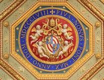 Деталь комнат Raphael (Stanze di Raffaello), Ватикан, Рим Стоковые Изображения RF