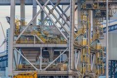 Деталь конструкции крана гавани Стоковое Изображение RF