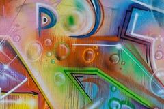 Деталь конца-вверх картины граффити Стоковые Изображения RF