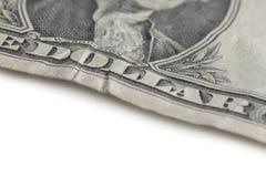 Деталь конца-вверх одной долларовой банкноты Стоковое Изображение