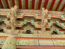 Деталь корейской крыши Стоковые Изображения