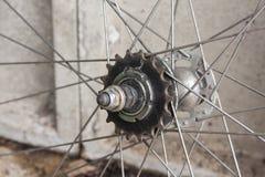 Деталь колеса велосипеда и cog Стоковое фото RF