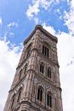 Деталь колокольни собора Флоренса Santa Maria del Fiore в Тоскане Стоковое фото RF
